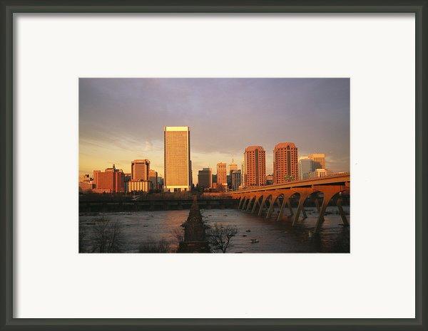 The Richmond, Virginia Skyline Framed Print By Medford Taylor