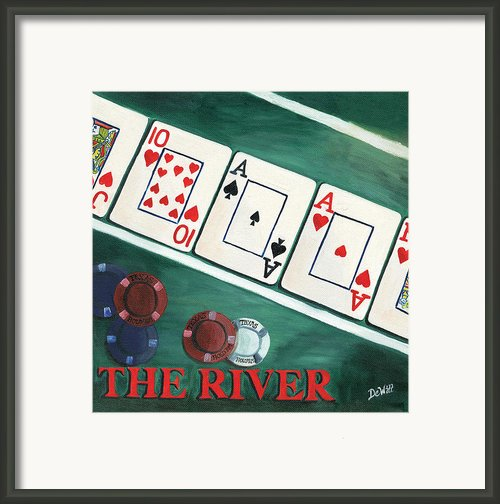 The River Framed Print By Debbie Dewitt