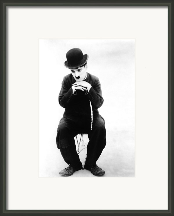 The Tramp, Aka Charlie On The Farm Framed Print By Everett
