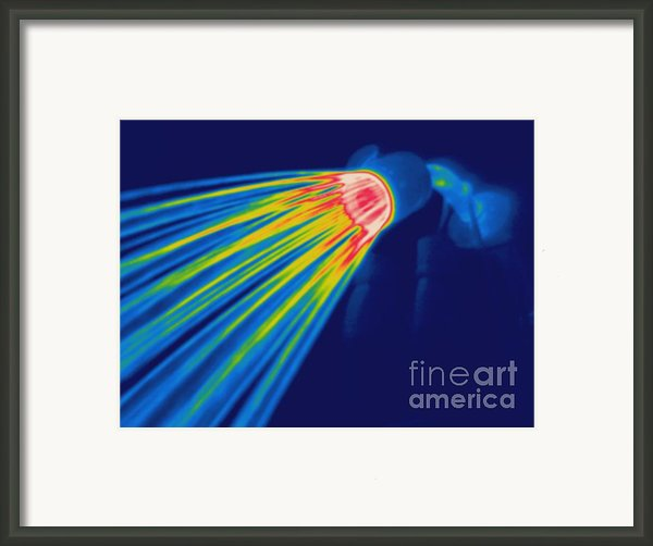Thermogram Of A Shower Head Framed Print By Ted Kinsman