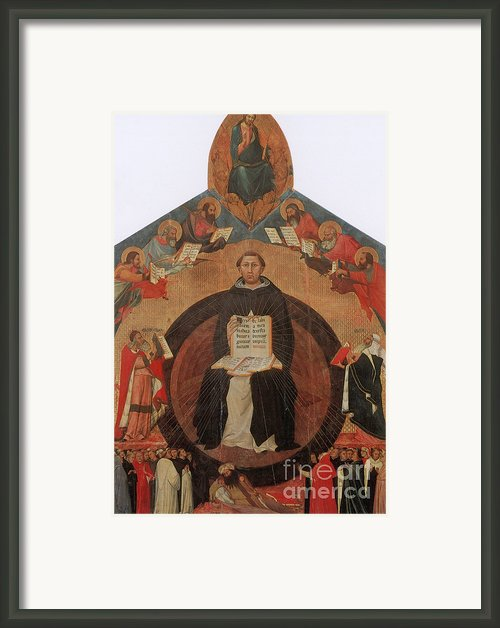 Thomas Aquinas, Italian Philosopher Framed Print By Photo Researchers