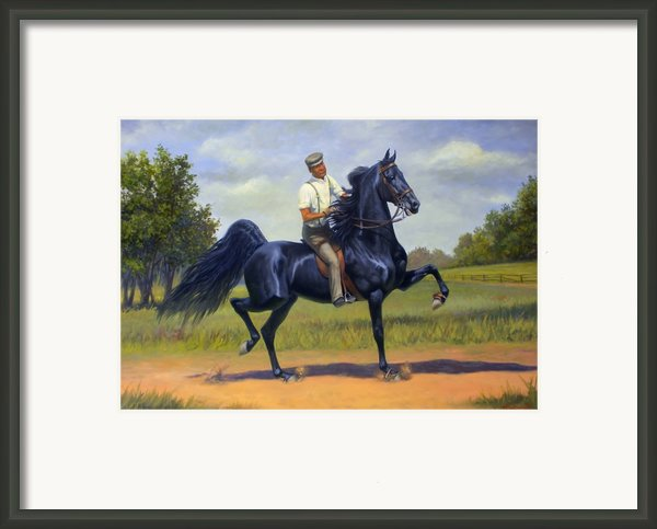 Tom Bass And Rex Mcdonald Framed Print By Jeanne Newton Schoborg