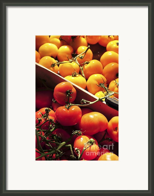 Tomatoes On The Market Framed Print By Elena Elisseeva