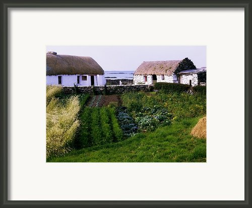 Traditional Cottages, Co Galway, Ireland Framed Print By The Irish Image Collection
