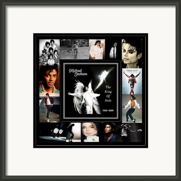 Tribute To Michael Jackson The King Of Style Framed Print By Davandra Cribbie