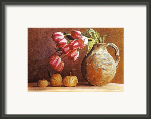 Tulips And Squash Framed Print By David Lloyd Glover