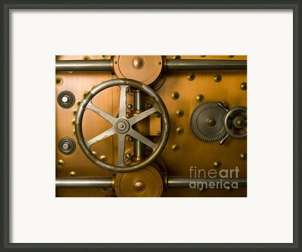 Tumbler Bank Vault Door Framed Print By Adam Crowley