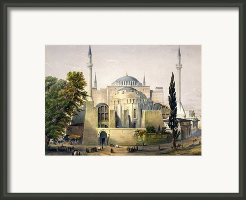 Turkey: Hagia Sophia, 1852 Framed Print By Granger