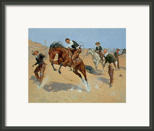 Turn Him Loose Framed Print By Frederic Remington