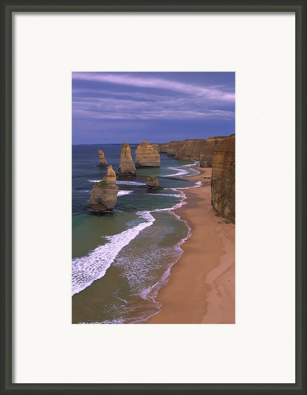 Twelve Apostles Limestone Cliffs, Port Framed Print By Konrad Wothe