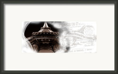 Umgx Vintage Design Parisian Photo With Type Crest Framed Print By Umgx Vintage