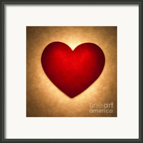 Valentine Heart Framed Print By Tony Cordoza