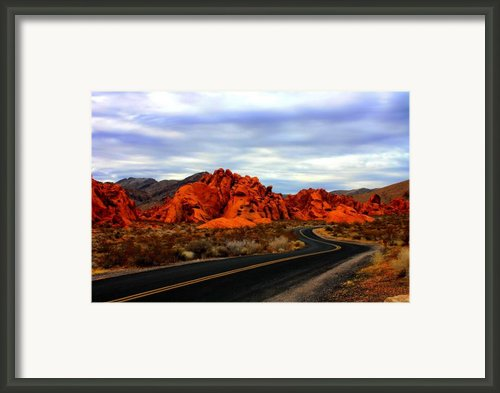Valley Of Fire Framed Print By Barbara Teller