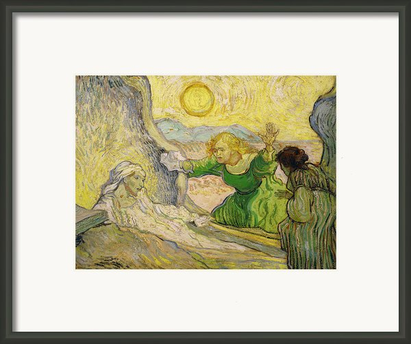 Van Gogh Raising Of Lazarus After Rembrandt Framed Print By Vincent Van Gogh