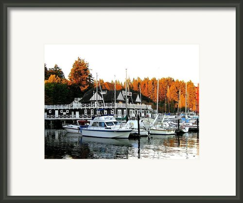 Vancouver Rowing Club Framed Print By Will Borden