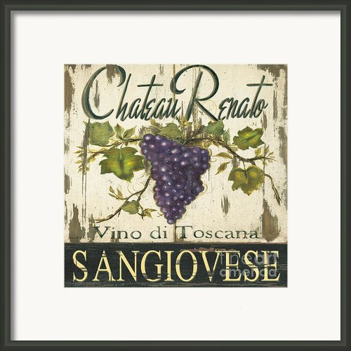 Vineyard Red Wine Sign Framed Print By Grace Pullen