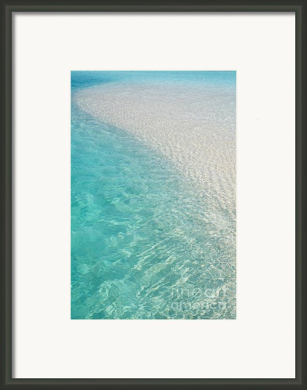 Water Meditation I. Five Elements. Healing With Feng Shui And Color Therapy In Interior Design Framed Print By Jenny Rainbow