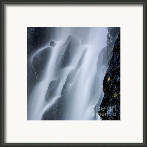 Waterfall Of Vaucoux. Puy De Dome. Auvergne. France Framed Print By Bernard Jaubert