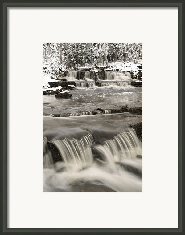 Waterfalls With Fresh Snow Thunder Bay Framed Print By Susan Dykstra