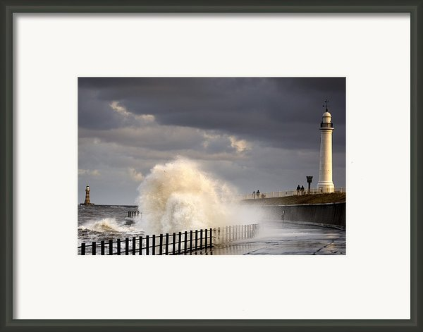 Waves Crashing, Sunderland, Tyne And Framed Print By John Short