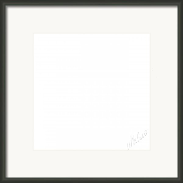 White Square Framed Print By Valeriy Mavlo