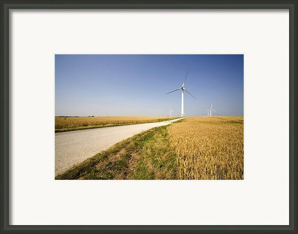 Wind Turbine, Humberside, England Framed Print By John Short
