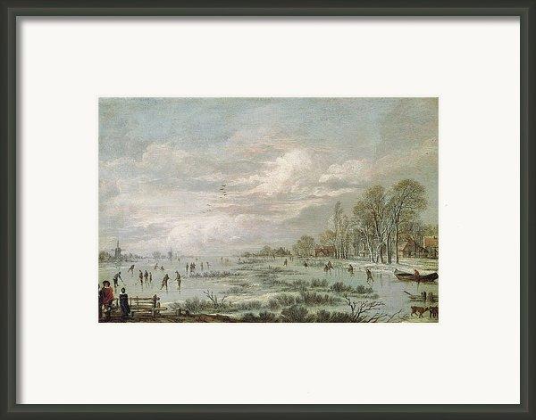 Winter Landscape Framed Print By Aert Van Der Neer