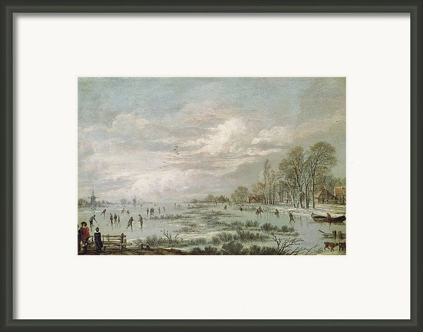 Winter Landscape Framed Print By Aert Van Der Neer