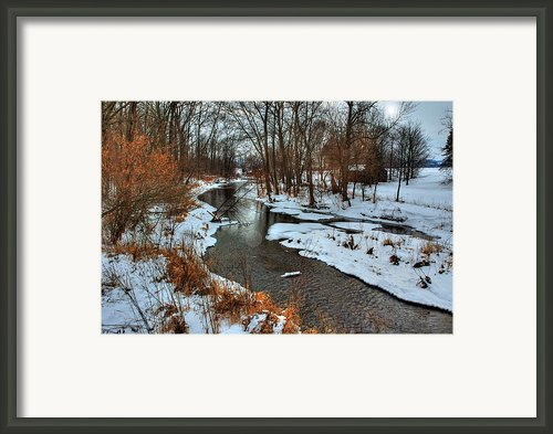 Winter Stream Framed Print By C Wayne Hennebert