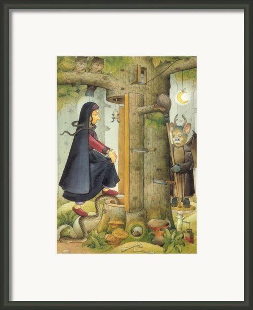 Witch Framed Print By Kestutis Kasparavicius