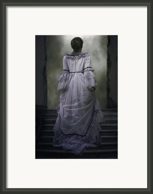 Woman On Steps Framed Print By Joana Kruse