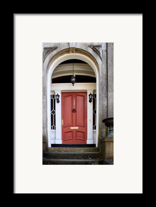 Wooden Door Savannah Framed Print By Thomas Marchessault