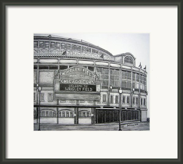 Wrigley Field Framed Print By Juliana Dube