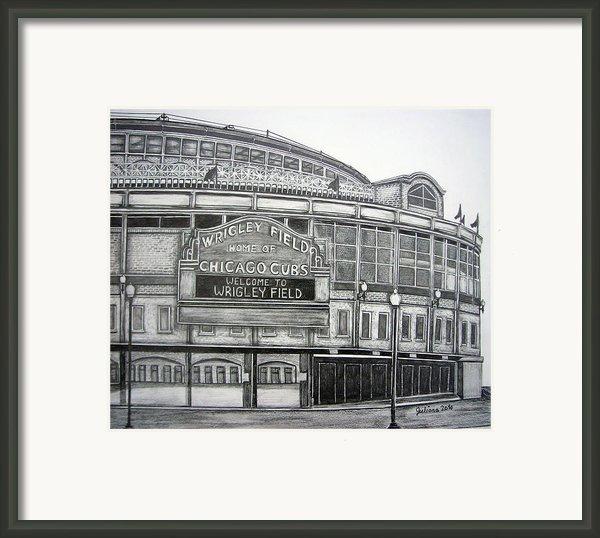 Wrigley Field Framed Print By Juliana Dube