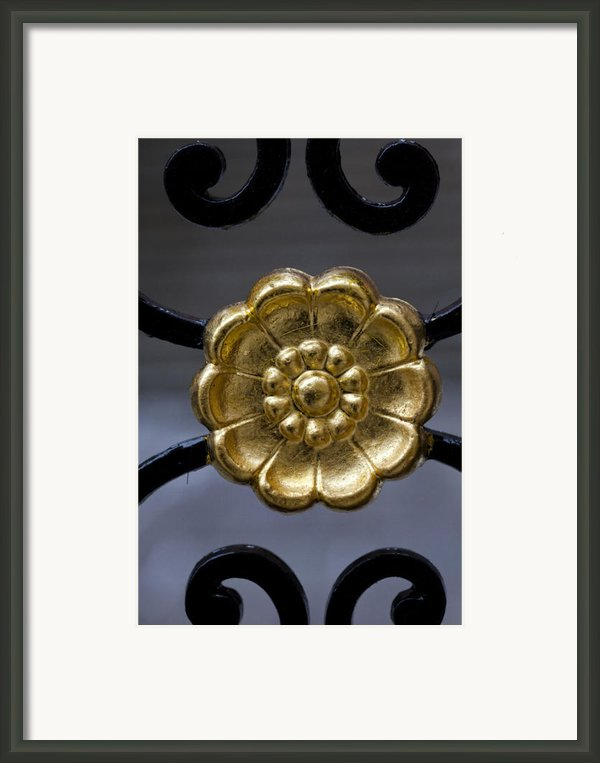 Wrought Iron Gate Details Framed Print By Robert Ullmann