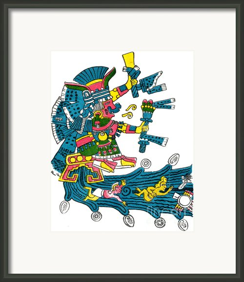 Xochiquetzal, Aztec Goddess Of Beauty & Framed Print By Photo Researchers