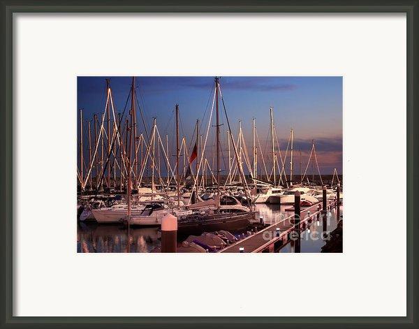 Yacht Marina Framed Print By Carlos Caetano