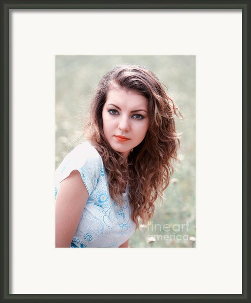 Young Woman Outdoor Framed Print By Gabriela Insuratelu