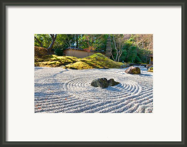 Zen Garden At A Sunny Morning Framed Print By Ulrich Schade