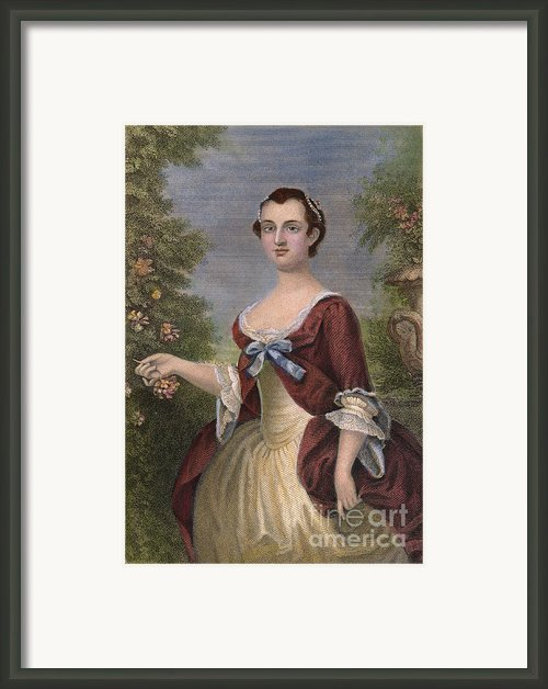 Martha Washington Framed Print By Granger