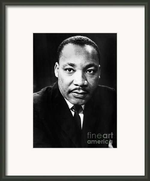 Martin Luther King, Jr Framed Print By Granger