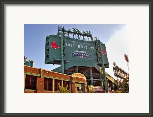 100 Years At Fenway Framed Print By Joann Vitali