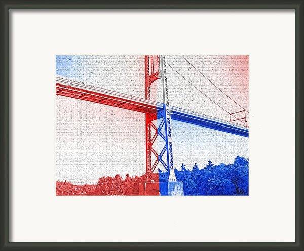 1000 Island International Bridge 2 Framed Print By Steve Ohlsen