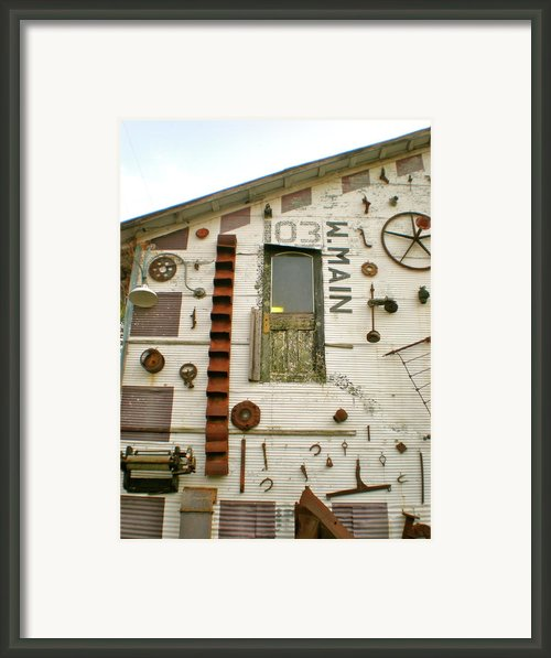 103 W. Main Framed Print By Sheep Mctavish