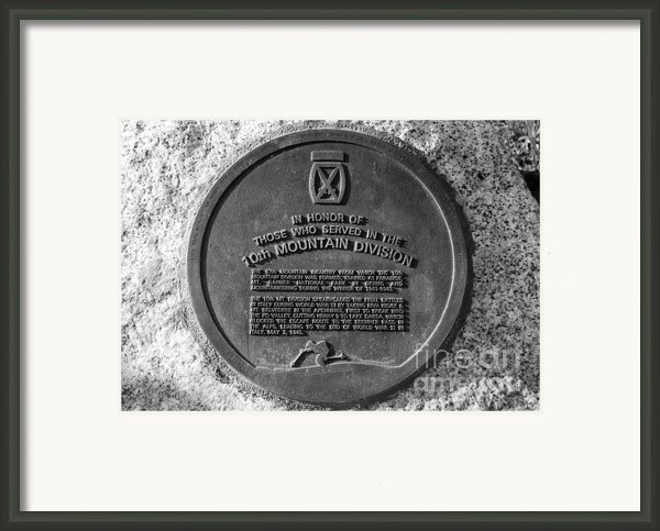 10th Mountain Division Framed Print By David Lee Thompson