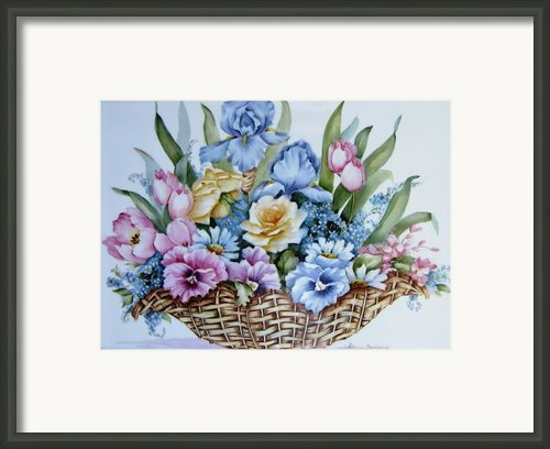 1119 B Flower Basket Framed Print By Wilma Manhardt