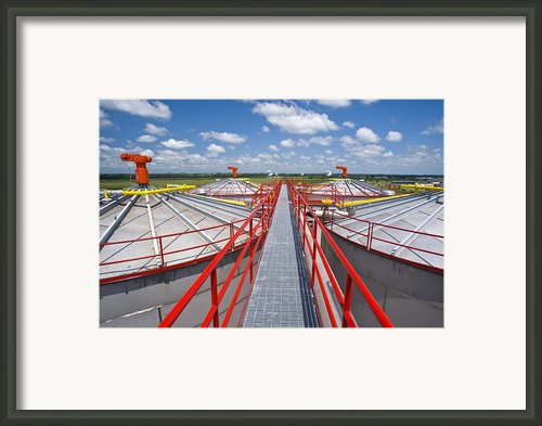 Corn Ethanol Processing Plant Framed Print By David Nunuk