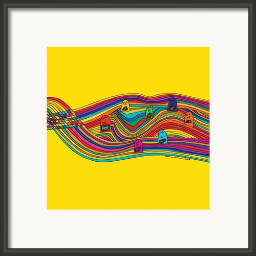 Line Faces Framed Print By Karl Addison
