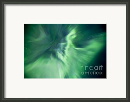 Aurora Borealis Near Drayton Valley Framed Print By Zoltan Kenwell