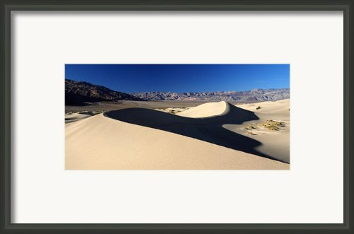 Mesquite Sand Dunes In Death Valley National Park Framed Print By Pierre Leclerc